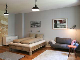 Birgit Glatzel Architektin Industrial style bedroom Grey