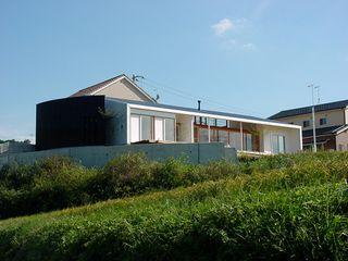 松永鉄快建築事務所 Modern Houses Solid Wood Wood effect
