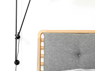 Furniture collection Loft Kolasinski SlaapkamerBedden en hoofdeinden Linnen Grijs
