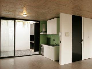 IR arquitectura Cozinhas modernas Vidro Verde