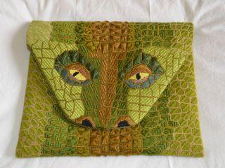 Pochette pour Tablette crocodile Clemy's Art ArtObjets d'art Coton Vert