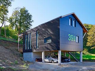 Bertin Bichet Scandinavian style houses Aluminium/Zinc Black