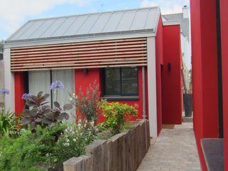 Bertin Bichet Modern Houses Solid Wood Red