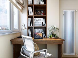 Ольга Райская Eclectic style study/office Beige