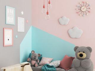Cameretta#1 Elisabetta Goso >architect & 3d visualizer< Stanza dei bambini in stile scandinavo