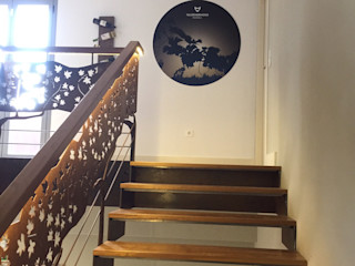 Sala de catas en la Bodega Valdehermoso, Rueda Apersonal Espacios comerciales de estilo mediterráneo