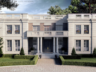 French house Elena Arsentyeva Дома в классическом стиле Известняк Бежевый