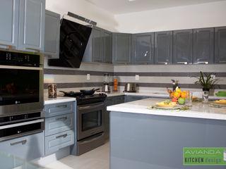 Avianda Kitchen Design Dapur Modern Kayu Buatan Grey
