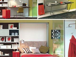 Transforming-hidden-bed-desk lookingstudio EstudioEscritorios Madera Gris