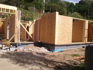 Timber Frame Build in Flushing Building With Frames Modern Houses Wood