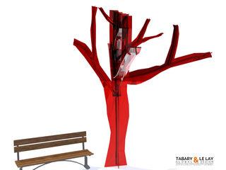 The invisible tree Frédéric TABARY Офісні приміщення та магазини Фарфор Прозорий