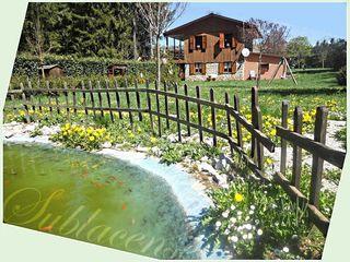 Lo chalet con laghetto con pesci rossi immobiliare sublacense Case in stile rustico