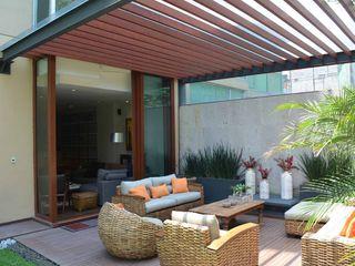 Productos Cristalum Jardins modernos Alumínio/Zinco Efeito de madeira