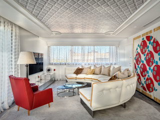 City Exquisite Viterbo Interior design Salas multimédia ecléticas