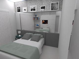 LMT Arquitetura Modern Yatak Odası Cam Gri