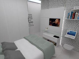 LMT Arquitetura Modern Yatak Odası Cam Kahverengi
