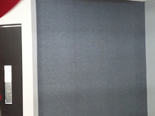 VIVAinteriores Minimalistyczny salon Papier Szary