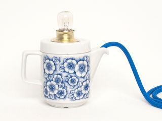 Lieselotte EetkamerVerlichting Porselein Blauw