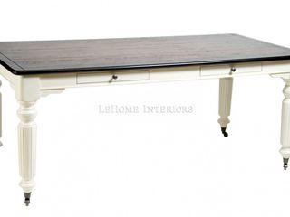 LeHome Interiors ห้องทานข้าวโต๊ะ ไม้จริง White