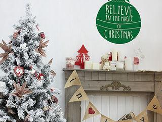 Christmas wall sticker decorations Vinyl Impression Walls & flooringWall tattoos Green