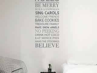 Christmas wall sticker decorations Vinyl Impression Walls & flooringWall tattoos Grey