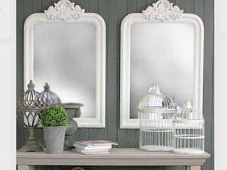Double mirror style to copy Mirrors by Ottilie Corridor, hallway & stairsAccessories & decoration Kayu White