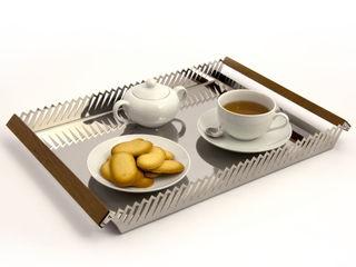 Millepiedi   Stainless steel serving tray Vitruvio Design ComedorAccesorios y decoración Hierro/Acero Metálico/Plateado