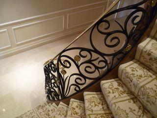 Mayfair, London The Iron Age Metalworks Ltd Classic corridor, hallway & stairs