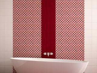 CERAMICHE MUSA Nowoczesna łazienka Ceramiczny Czerwony