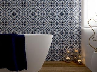 CERAMICHE MUSA Nowoczesna łazienka Ceramiczny Niebieski