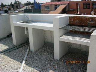 Parrilla Sur 105 Fixing Balcones y terrazas eclécticos Ladrillos Blanco