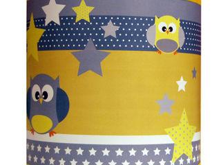 Luminaire enfant thème les hiboux NOTHING TOULOUSE Chambre d'enfantsEclairage Papier Jaune