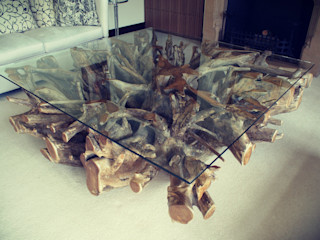 Teak Root Coffee Table BluBambu Living ГостинаяАксессуары и декорации Дерево
