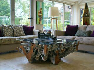 Teak Root Coffee Table BluBambu Living ГостинаяАксессуары и декорации
