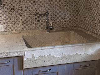 CusenzaMarmi KitchenSinks & taps پتھر Grey