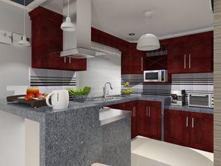AurEa 34 -Arquitectura tu Espacio- Cocinas de estilo moderno Multicolor