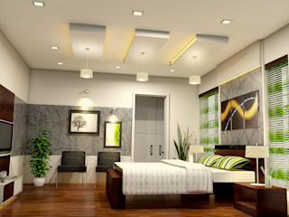 BN Architects Modern style bedroom