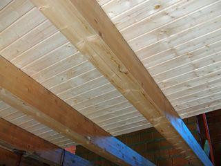 panelestudio Paredes y pisos rústicos Madera maciza Acabado en madera