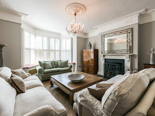 Full renovation on Trinity Road, London Grand Design London Ltd Вітальня