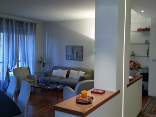 Appartamento M+E ArchitetturaTerapia® Soggiorno moderno
