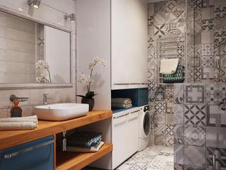 """APARTMENT """"VERBI"""" Polygon arch&des Baños minimalistas Azulejos Blanco"""