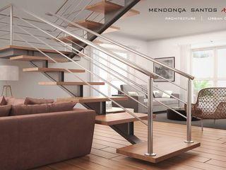 Mendonça Santos Arquitetos & Associados 现代客厅設計點子、靈感 & 圖片