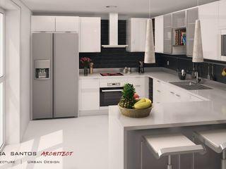 Mendonça Santos Arquitetos & Associados 現代廚房設計點子、靈感&圖片
