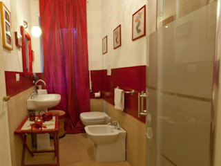 Bazardeco BathroomDecoration Bamboo Red