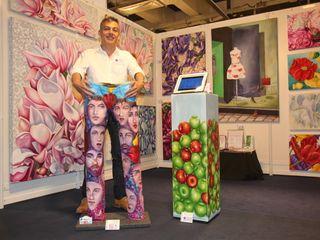 Filiberto Montesinos 藝術品照片與畫作 亞麻織品 Multicolored