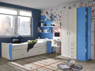 Base.3 MUEBLES ORTS DormitoriosCamas y cabeceros Aglomerado Azul