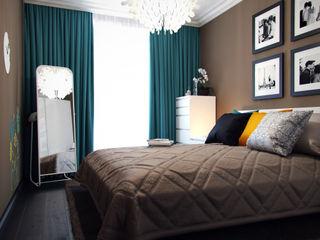 Спальня с бирюзовыми акцентами Коваль Татьяна Спальня в стиле модерн Бирюзовый