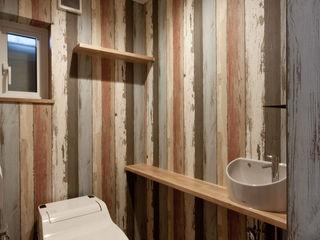 有限会社 法澤建築デザイン事務所 Rustic style bathroom