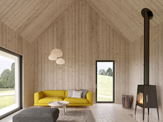 INT2architecture Living room Wood Beige