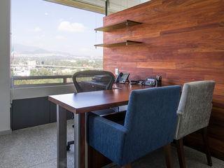 OFICINAS O&H Barra de Arquitectura Mexicana Oficinas y tiendas Madera maciza Acabado en madera